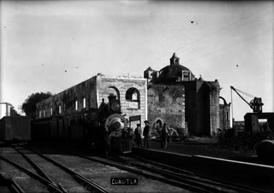 """Estación de ferrocarril en """"Cuautla"""""""