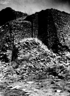 Pirámide en la zonas arqueológica La Quemada