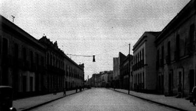 Calles del Perú, vista hacia el oriente desde la segunda calle
