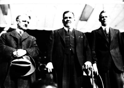 Plutarco Elías Calles, Charles Lindbergh y Dwight Morrow, retrato