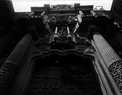 Iglesia de la Enseñanza, hornacina de la fachada