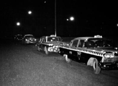 Taxis estacionados en su base