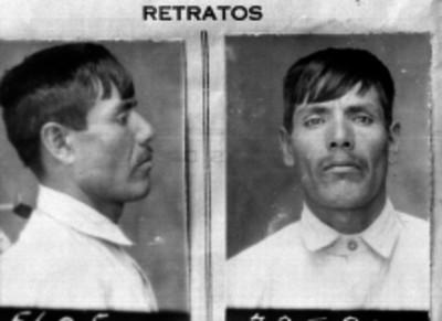 Presunto delincuente, fotografía de filiación carcelaria