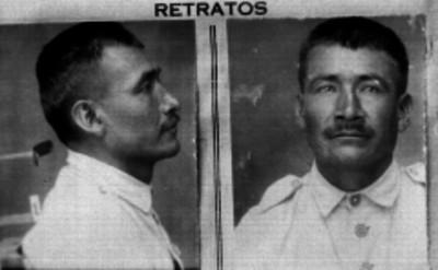 Delincuente, fotografía de filiación carcelaria