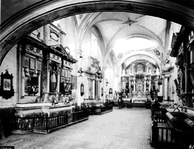 Iglesia del Tercer orden, Nave principal vista hacia el altar mayor