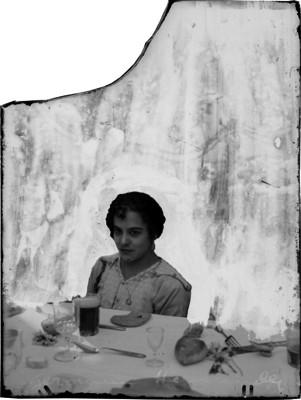 Esposa de Jerónimo Hernández, en un banquete