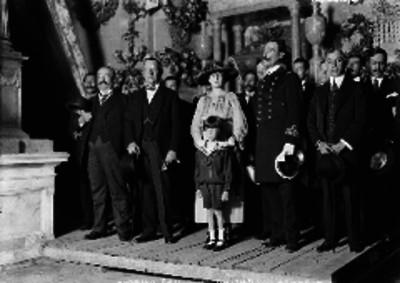 Manuel Malbran y Gutiérrez Bridat durante un acto diplomático