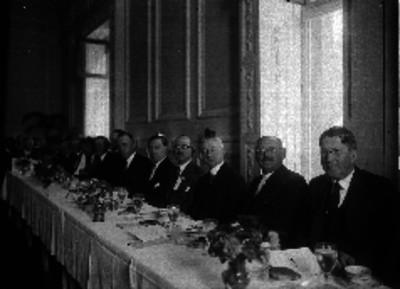 Henry Lane Wilson y otros diplomáticos en un banquete
