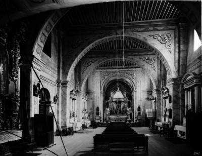 Iglesia de San Ángel, altar mayor, vista frontal