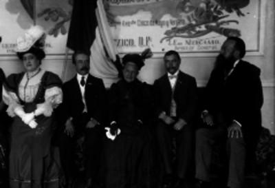 La Nieta de Hidalgo durante un homenaje a su abuelo, retrato
