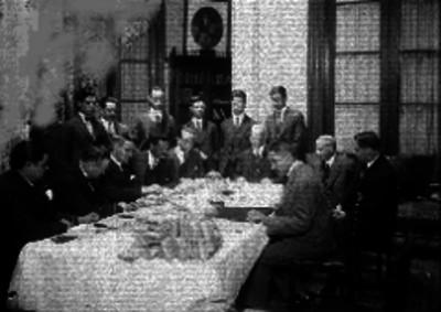 Grupo de funcionarios de la Cámara de Comercio durante una reunión