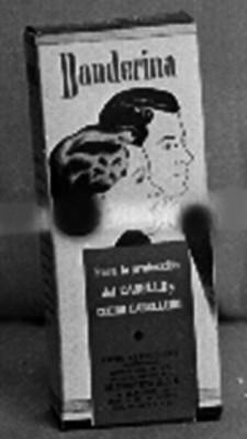 """Caja de productos """"Para la protección del CABELLO y CUERO CABELLUDO"""", conocido como """"Danderina"""""""