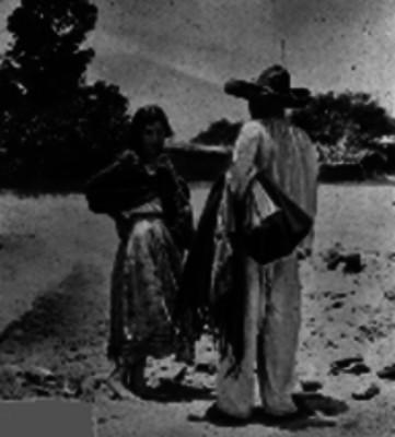 Hombre cortejando a una mujer, retrato
