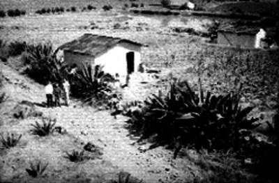 Casas rústicas de un poblado