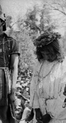 Actor representa a Cristo durante el Viacrusis en Iztapalapa