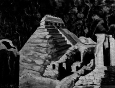 Pintura del templo de las Inscripciomes de Palenque