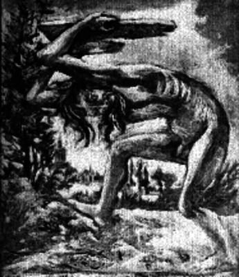 Pintura de un individuo en una posición extraña, de Gordillo