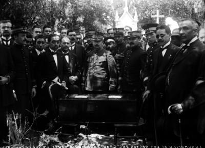Inhumación de los restos del Gral. José María Yañez
