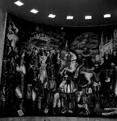 Mural de la Independencia realizado por Juan O'gorman en el museo de Historia de Chapultepec