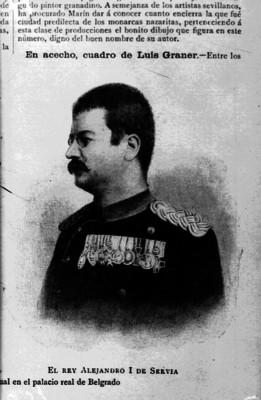 Alejandro I de Serbia, reprografía bibliográfica
