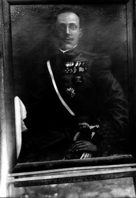 Alfonso XIII Rey de España, pintura de caballete
