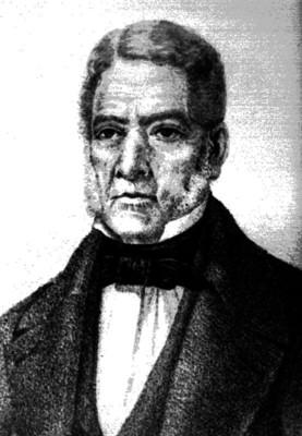 Juan Álvarez, presidente de México, grabado