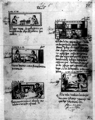 Foja 78 del códice Florentino