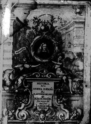 Historia de la Nueva España de Dantonio de Solis, portada de libro