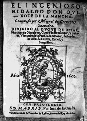 El Ingenioso Hidalgo Don Quijote de la Mancha, portada de libro