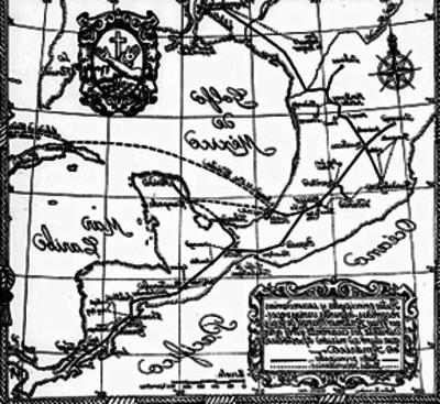 """Mapa del México con las """"Rutas de Santificación"""""""