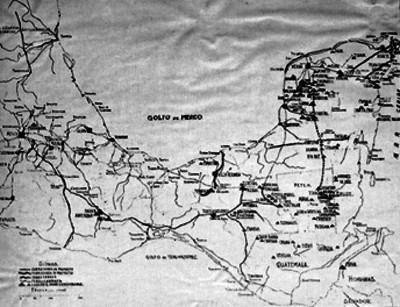 Mapa de ciudades y careteras del sur y sureste mexicano