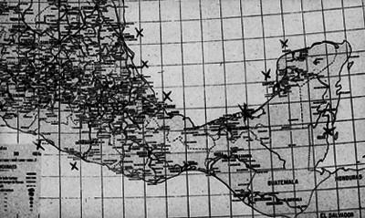 Mapa del Centro y Sur Mexicano