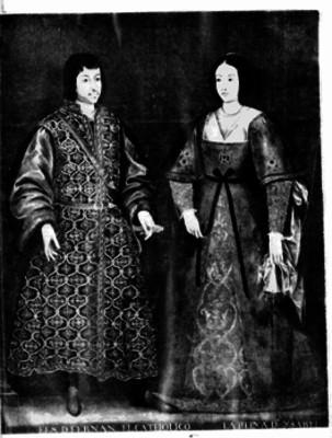 Fernando El Católico y la Reina Isabel, litografía