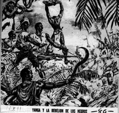 Yanga y la rebelión de los negros [sic], reprografía de una litografía