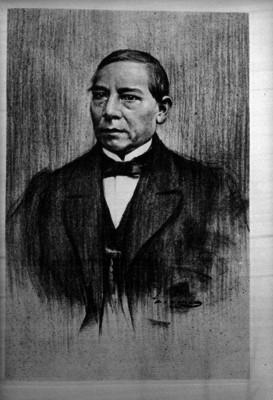 Benito Juárez, dibujo al pastel