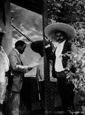 Francisco I. Madero visita a Emiliano Zapata