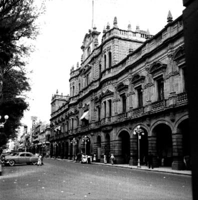 Calle de la ciudad de Puebla, panorámica