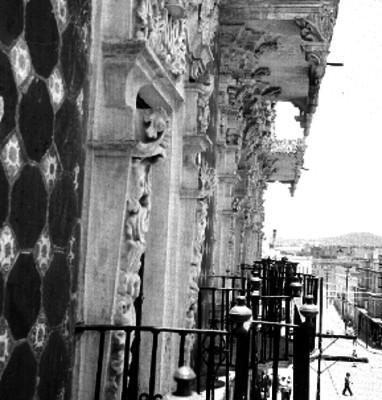 Balcones de la casa del alfeñique, detalle