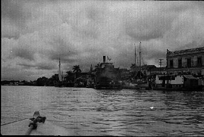 Población a orillas del río Usumacinta en Tabasco