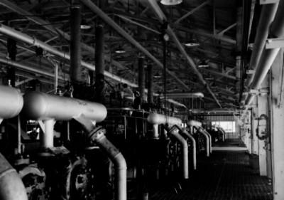 Interior de la refinería de Poza Rica, vista general