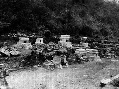 Tumbas mexicas en el pueblo de Quiahustlán
