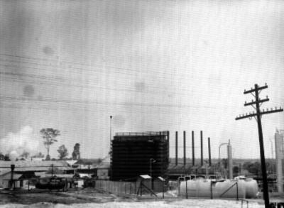 Equipo de enfriamiento de la refinería de Poza Rica, estado de Veracruz