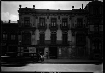 "Edificio ubicado en ""Av. Juárez 40"", fachada"
