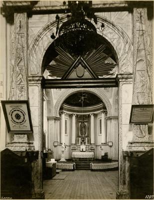 Altar, interior de la capilla de Guadalupe