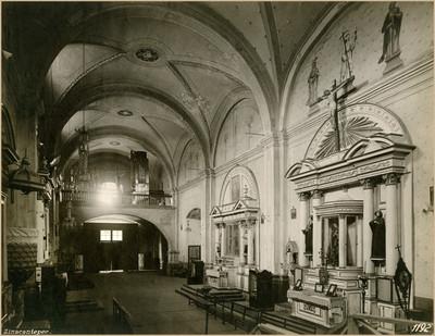 Vista del coro de la Parroquia de San Miguel Arcángel