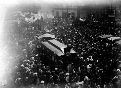 Manifestación ferrocarrilera