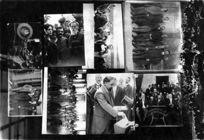 Francisco I. Madero en actividades presidenciales, collage fotográfico