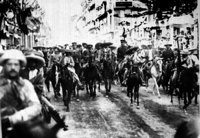 Francisco Villa y Emiliano Zapata a su paso por la ciudad de México