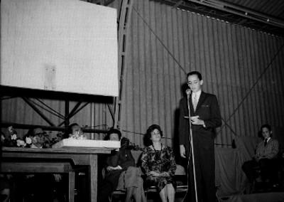 Orador durante una ceremonia de graduación