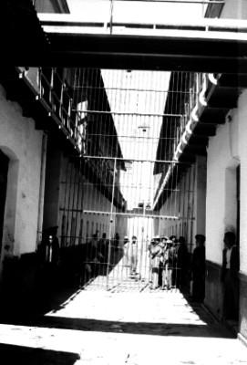 Interior de las crujías de la penitenciaria del D.F.